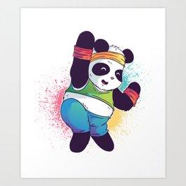 Fitness Panda Art Print