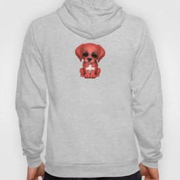 Cute Puppy Dog with flag of Switzerland Hoody