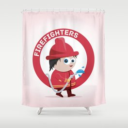 Firefighter Shower Curtain