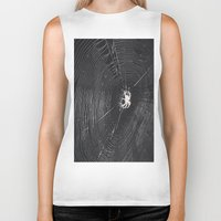 spider Biker Tanks featuring Spider by LadyJennD
