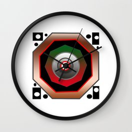 Octagon +circles make composition Wall Clock