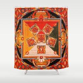 Mandala Buddhist 10 Shower Curtain