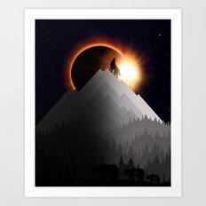 Wander Eclipse Art Print