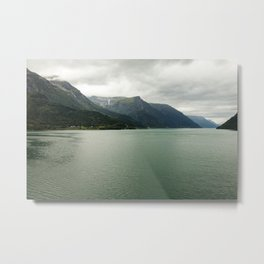 | nature photo | fine art photo print | travel photographyA big lake in Norway Metal Print