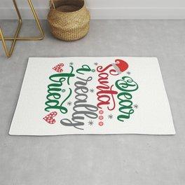 Dear Santa I Really Tried Rug