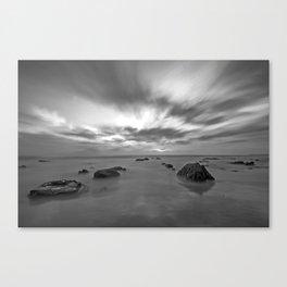 Crystal Cove Black & White Canvas Print