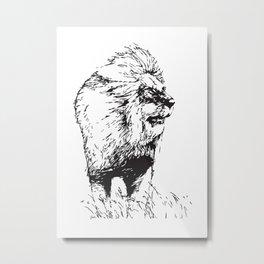 Lion - M Metal Print