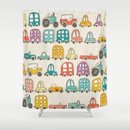 retro rides eggshell Shower Curtain