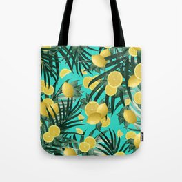 Summer Lemon Twist Jungle #1 #tropical #decor #art #society6 Tote Bag