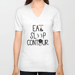 EAT SLEEP CONTOUR Unisex V-Neck