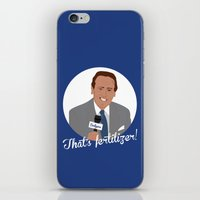 scully iPhone & iPod Skins featuring Vin Scully by Eric J. Lugo