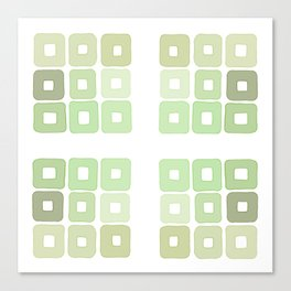 Squared Mint Green & Co Canvas Print