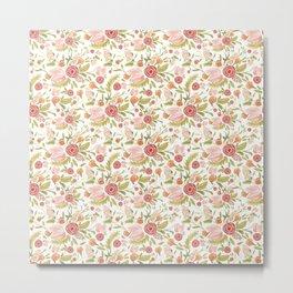 Pink Floral Medley Metal Print
