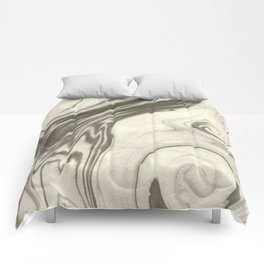 Masumi - abstract marble spilled ink japanese paper monoprint art marbled paper cell phone case Comforters