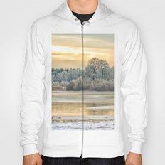 Walk on the winter lake Hoody
