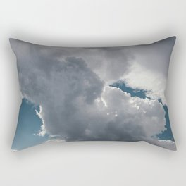 Clouds in the blue sky Rectangular Pillow