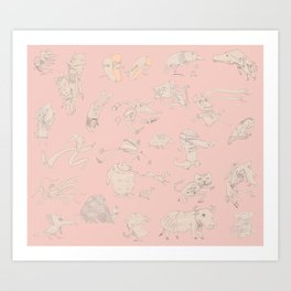 animals that walk Art Print