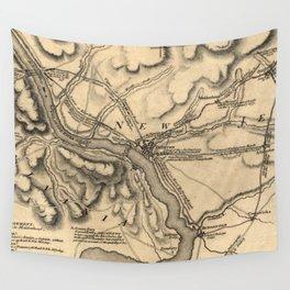 George Washington Trenton NJ Battlefield Map 1777 Wall Tapestry
