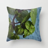 swedish Throw Pillows featuring Swedish ivy by Camaracraft