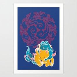 Fish Funny Dog Costume - Sea Collection Art Print