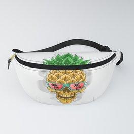 Skull Pineapple With Sunglasses - Pineapple Sunglasses Fanny Pack