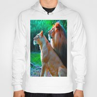 lions Hoodies featuring Loyal Lions by 13th Moon Social Club