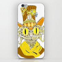 steam punk iPhone & iPod Skins featuring Steam Punk Cat by J&C Creations