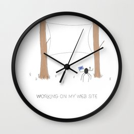 Daily Routine of Web Designers Wall Clock