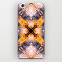 Watercolors yellow medieval kaleidoscope iPhone Skin