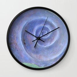 Moon Snail Aglow Wall Clock