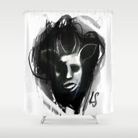beast Shower Curtains featuring BEAST by Luca Soncini