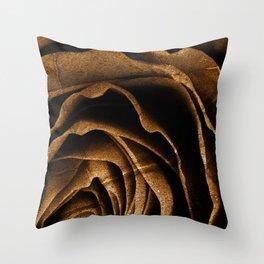 Sepia Grunge Rose Throw Pillow