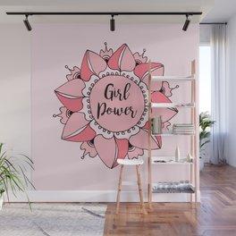 Girl Power Pink Mandala Wall Mural