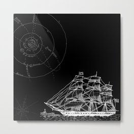 If Time Is My Vessel Metal Print