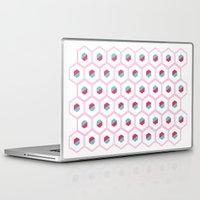 hexagon Laptop & iPad Skins featuring Hexagon Pattern by C Designz