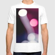 Bokeh Fireworks MEDIUM White Mens Fitted Tee