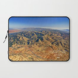 And in that moment, I swear we were infinite ∞. Aerial photo Laptop Sleeve