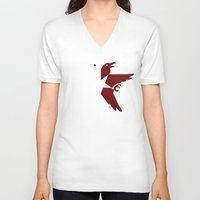 infamous V-neck T-shirts featuring Infamous Eagles by Rebekhaart
