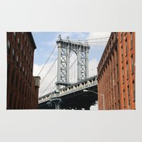 dumbo Area & Throw Rugs featuring DUMBO by Christian Hernandez