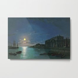 Classical Masterpiece View of the Thames River by Abraham Pether Metal Print