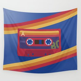 80s Retro Tape Deck Wall Tapestry