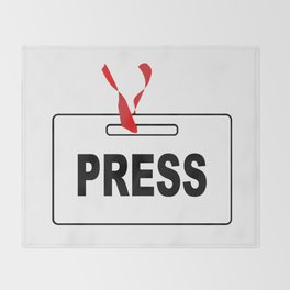 Press ID Card Throw Blanket