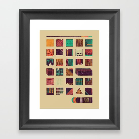 Swatches Framed Art Print