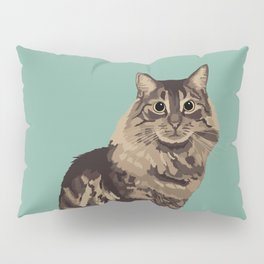 The Long-Haired Tabby Cat Pillow Sham