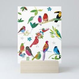 Birds meeting Mini Art Print