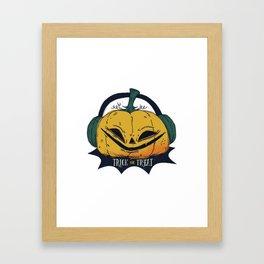 Trick or treat halloween pumpkin Framed Art Print