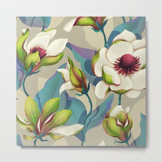 magnolia bloom - vivid version Metal Print