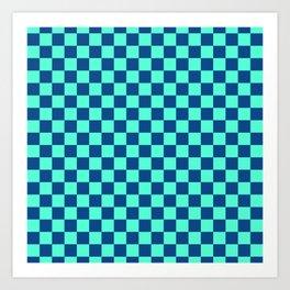 Checkered Pattern VI Art Print