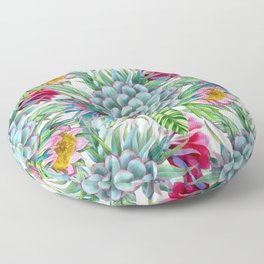 Exotic flower garden Floor Pillow