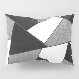 Silver Gray Black White Geometric Glam #1 #geo #decor #art #society6 Pillow Sham